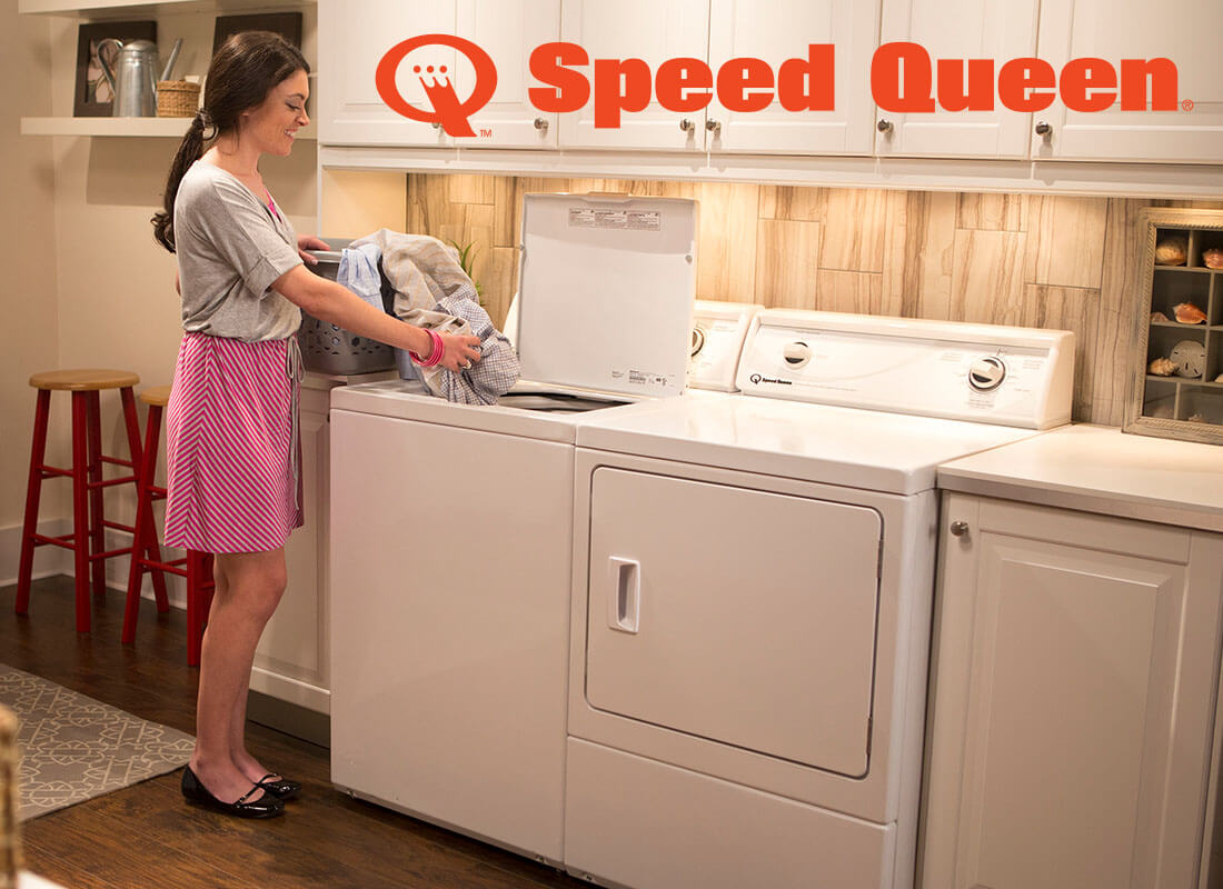Speed queen washer and dryer.